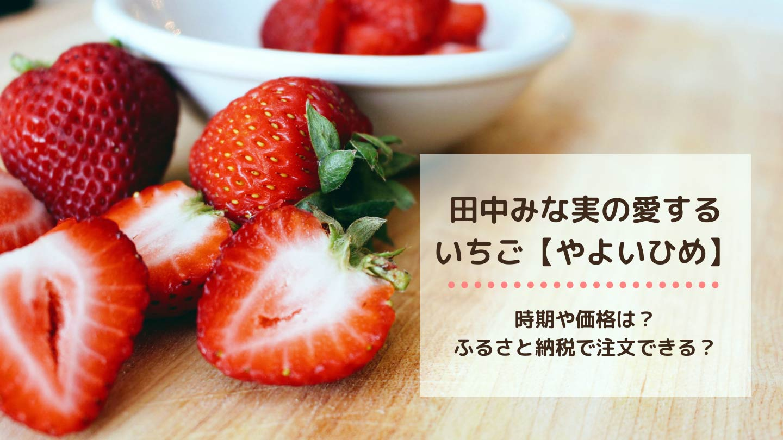 田中みな実の愛するいちご-「やよいひめ」の時期や価格は?-ふるさと納税で注文できる?