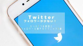 Twitterのフォロワー数が少ない!増やすテクニック3選