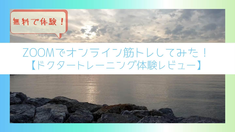 ZOOMでできるオンライン筋トレ無料体験してみた【ドクタートレーニング体験レビュー】