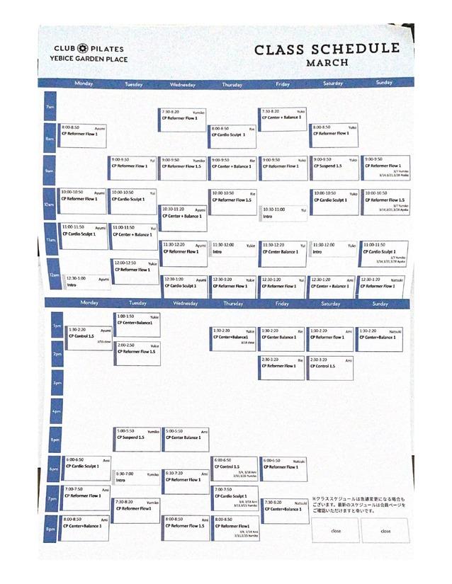 clubpilates-schedule